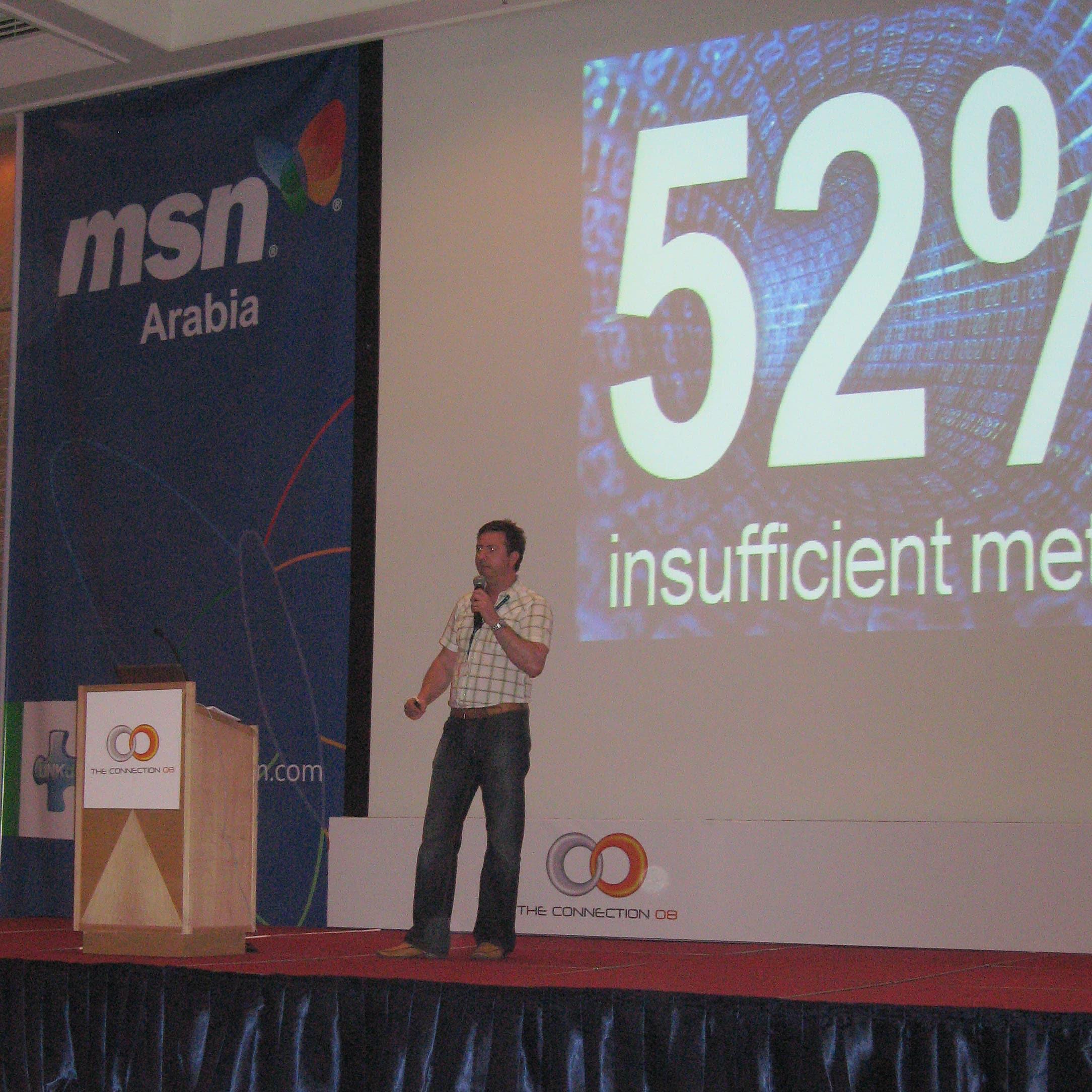 Dean speaking at MSN Arabia