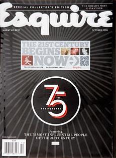 Esquire Magazine's eInk cover